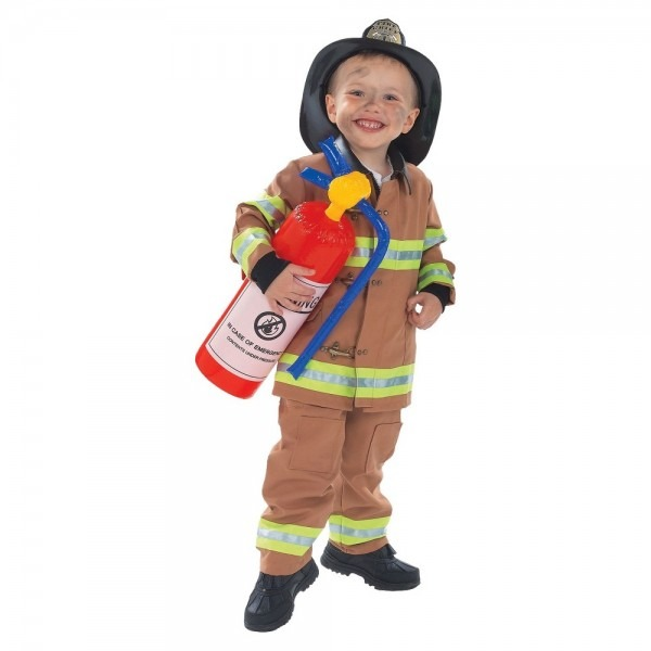Boys' Toddler Firefighter Costume Medium (8