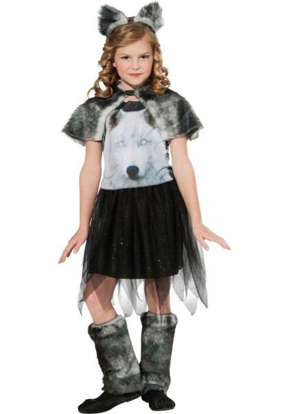 Kids Twilight Wolf Costume, Girl Werewolf Fancy Dress