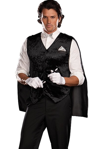 Black Magic Magician Costume For Adults