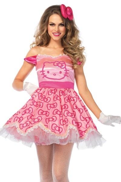 Sexy Pink 2 Pc  Pretty Pink Hello Kitty Costume
