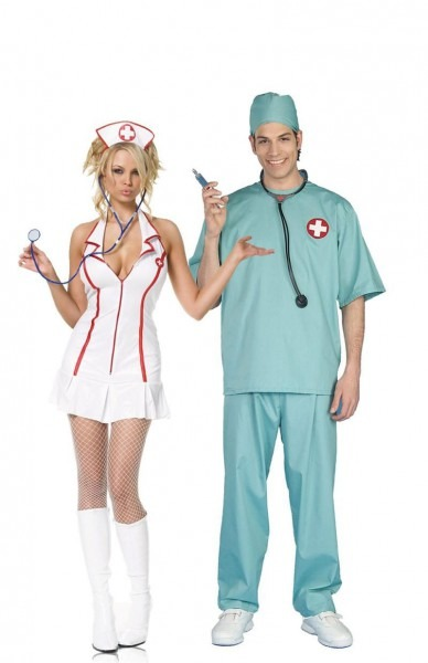 Surgeon Doctor And Nurse Couples Costume