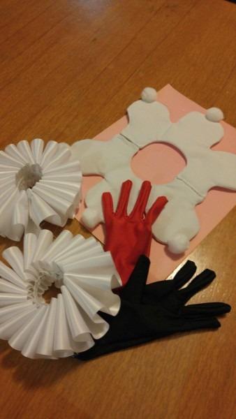 Harley Quinn Handmade Items  Gloves,cuffs And Collar  Cheap And