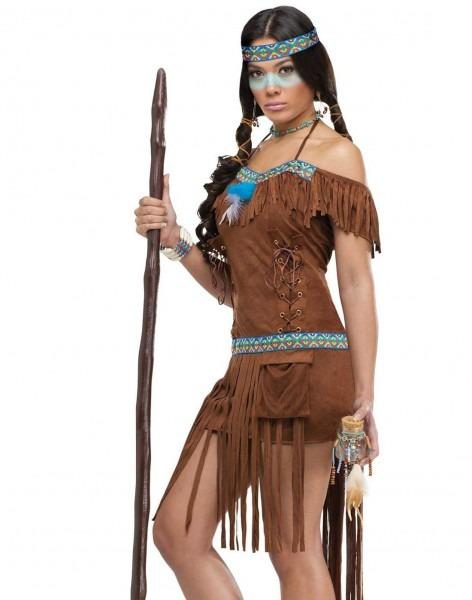 Medicine Woman Sexy Native American Indian Princess Womens