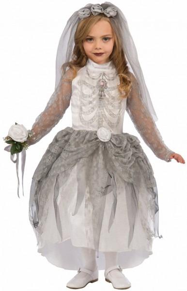 Spooky Skeleton Bride Kids Costume