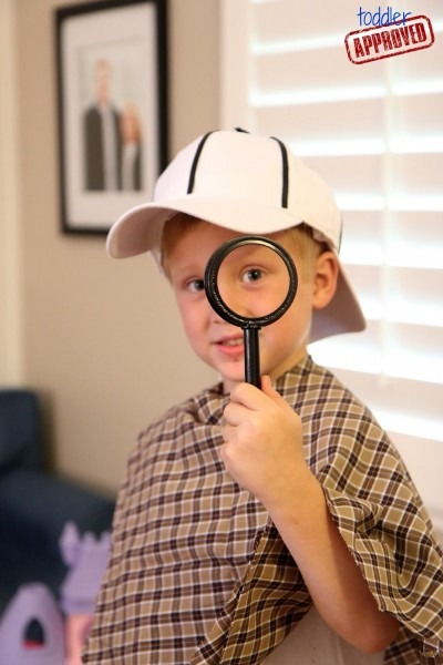 Toddler Approved!  Diy Detective Dress Up Costume And Hunting