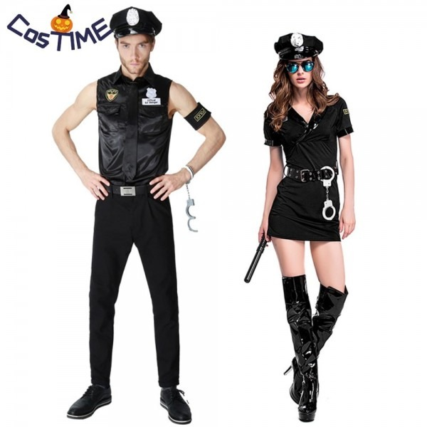 Dirty Cop Officer Costume Sexy Hot Policewoman Policeman Uniform