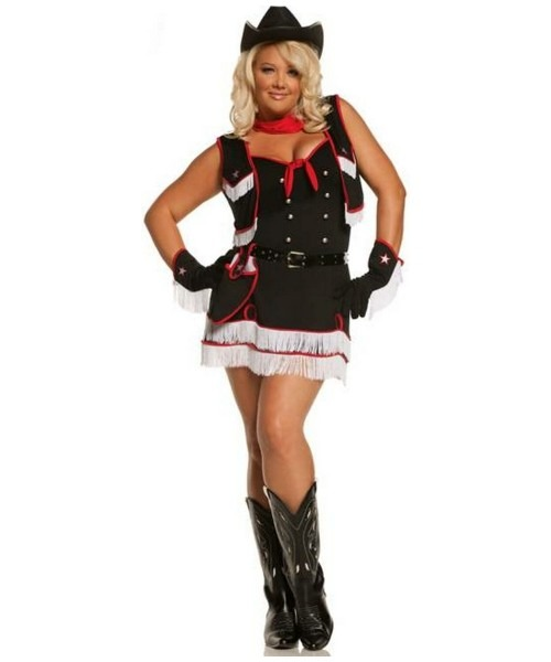 Adult Dirty Desperado Plus Size Cowgirl Costume