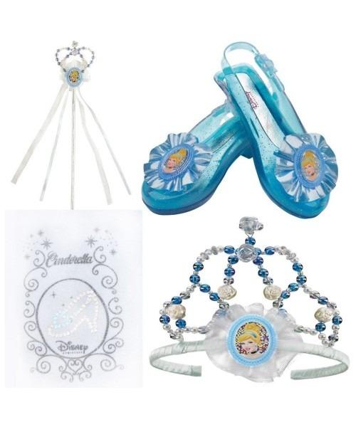 Disney Princess Cinderella Little Girls Costume Tiara Wand Tights Shoe