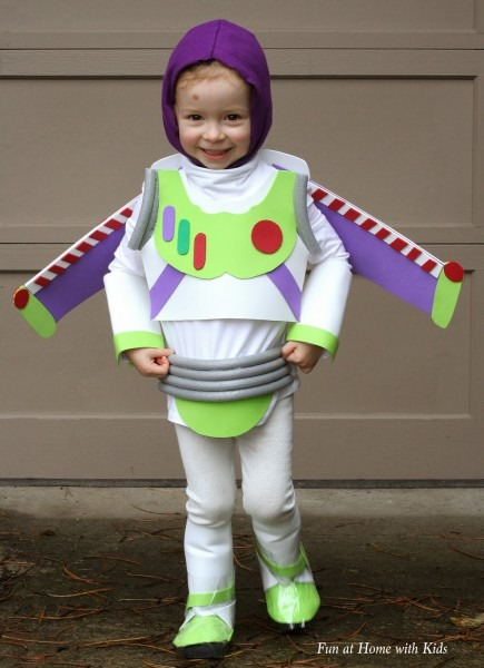 Diy Kids Buzz Lightyear No Sew Halloween Costume
