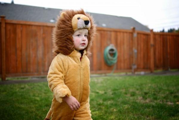 Three Men & One Lady   Now & Then  Lion Halloween Costume