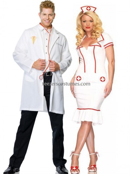 Doctor And Nurse Couples Adult Halloween Costumes Leg Avenue