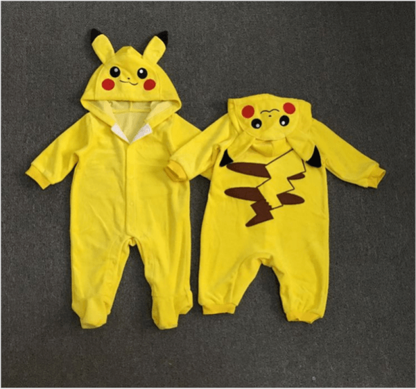 New Children Halloween Costume Pikachu Outfit Long Sleeve Infant