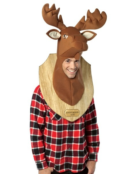 Loose Moose Trophy Head Adut Men's Costume