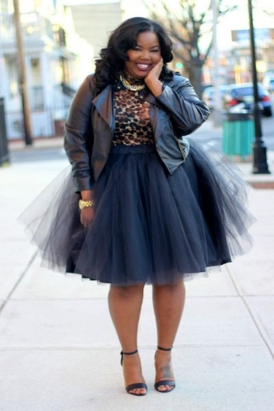 Curvy Girl, Outfit Idea, Plus Size Fashion, Plus Size Tulle Skirt