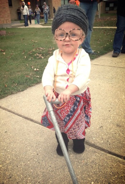 Old Lady Easy Diy Toddler Halloween Costume!