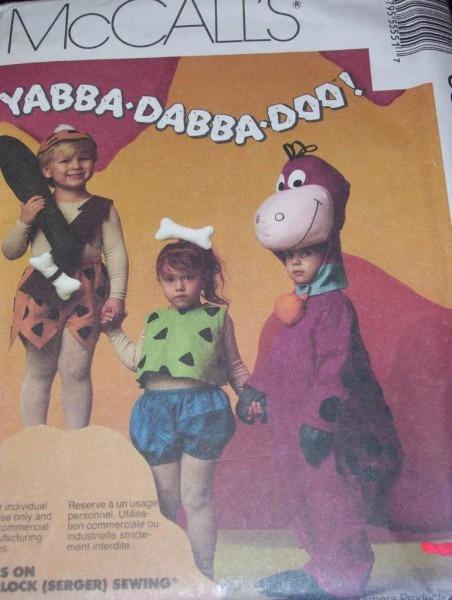 Mccall's 5555 Childs Flintstone Pebbles Bam Bam Dino Costume