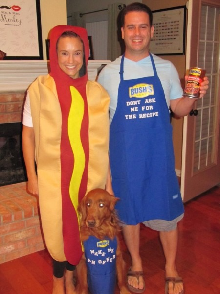 Bushs Baked Beans And A Hot Dog Costume