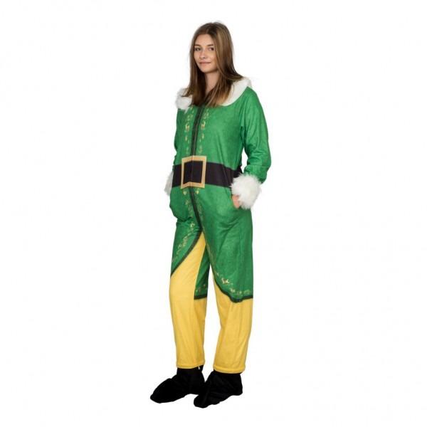 Buddy The Elf Costume Pajama Union Jumpsuit