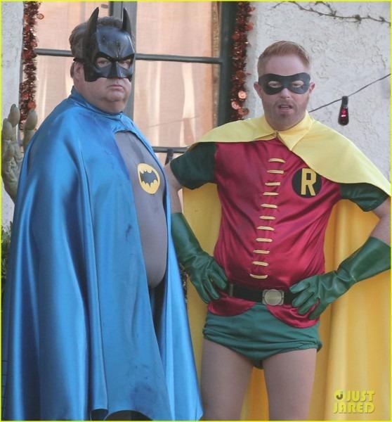 Eric Stonestreet & Jesse Tyler Ferguson Dress As Batman & Robin