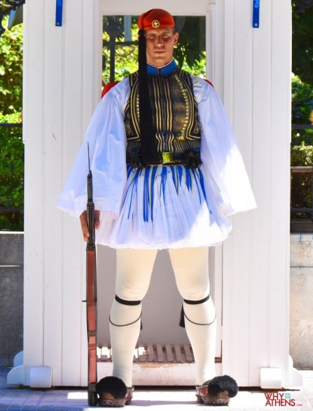 Evzones Uniform, The Costume Of An Elite Greek Soldier