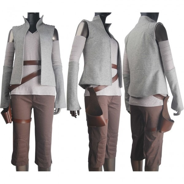 Women Star Wars The Last Jedi Rey Cosplay Costume Outfit Holster