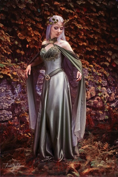 Elven Dress By Lillyxandra Female Half Elf Wedding Bridal Gown