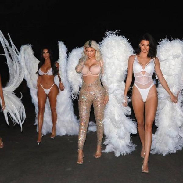 Kim Kardashian Dresses As A Victoria's Secret Angel For Halloween