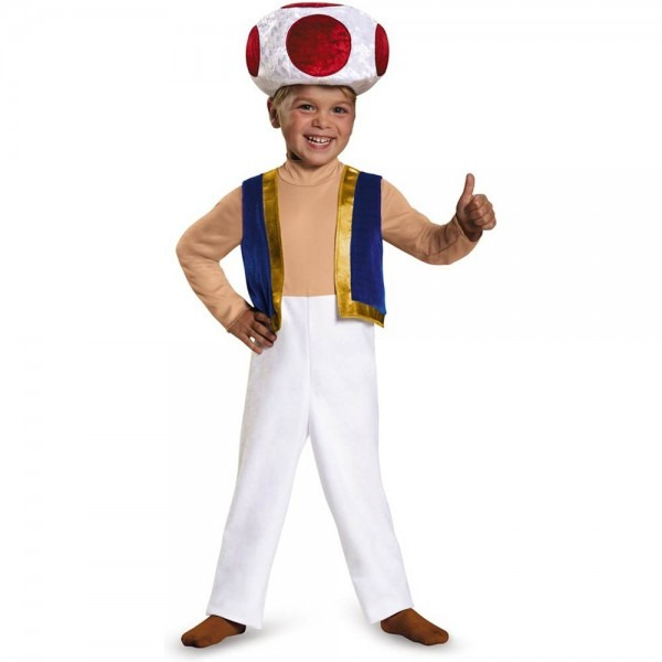 Super Mario Brothers Toad Costume For Toddler