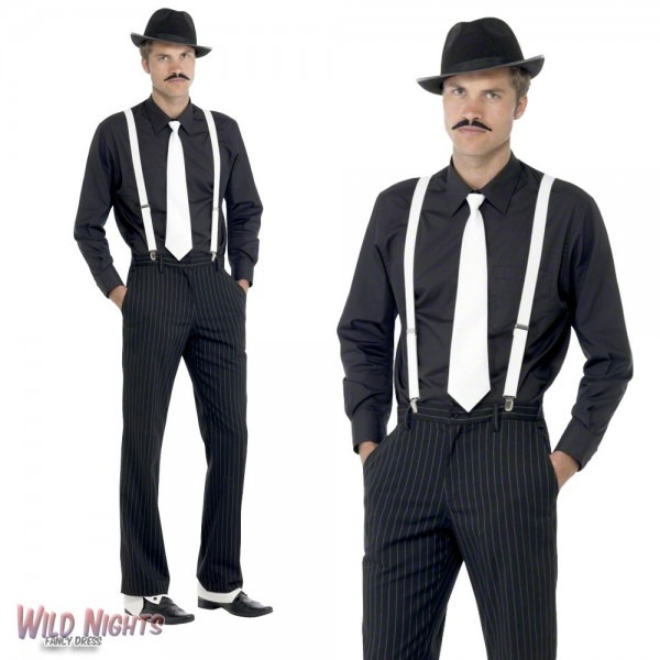 Fancy Dress Accessory Mens 1920 S Gangster Instant Dress Up Kit