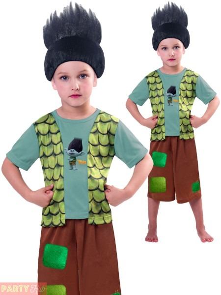 Boys Branch Trolls Costume Childs Tv Film Book Week Fancy Dress