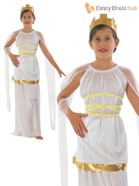 Girls Large Fancy Dress Goddess Athena Age 10 To 12