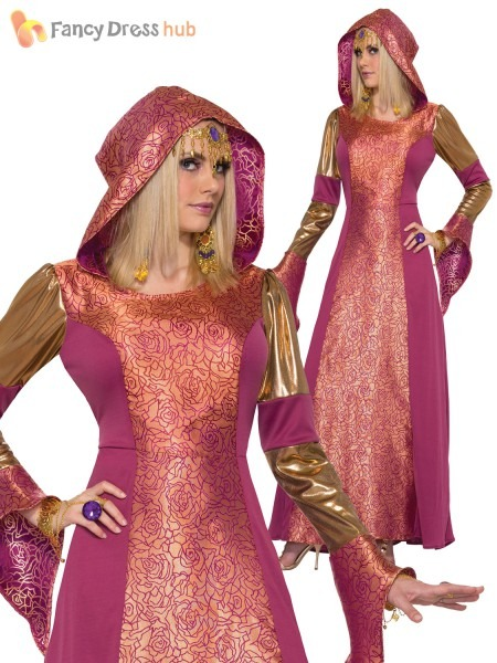 Ladies Arabian Queen Costume Adults Bollywood Fancy Dress Womans