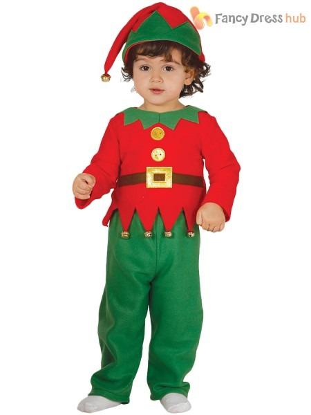 Baby Toddler Elf Costume Boys Girls Christmas Fancy Dress Santas