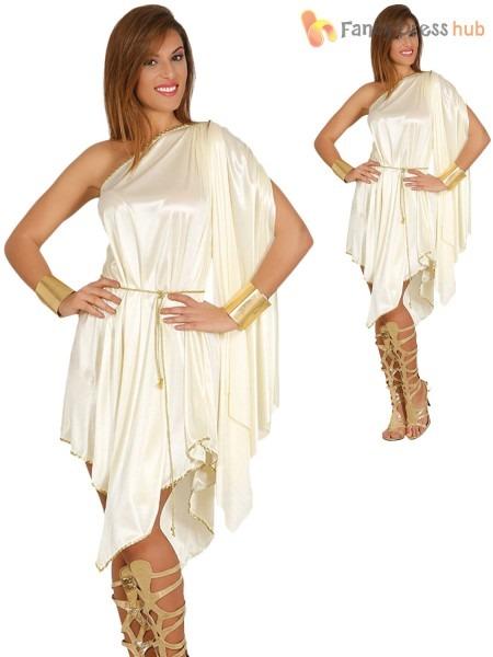 Ladies Greek Goddess Costume Adults Roman Grecian Toga Fancy Dress
