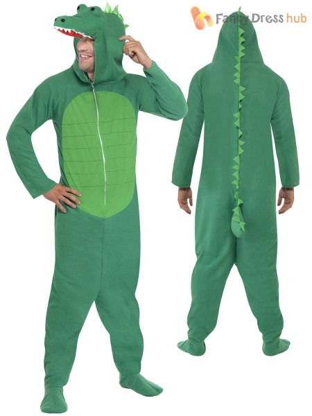 Adult Crocodile Costume Mens Ladies Animal Fancy Dress Zoo World