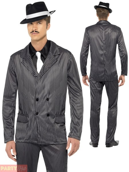 Mens Gangster Costume Adults 1920s Pimp Daddy Fancy Dress 20s