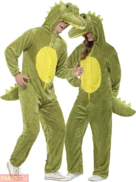 Adult Crocodile Costume Mens Ladies Alligator Animal Fancy Dress