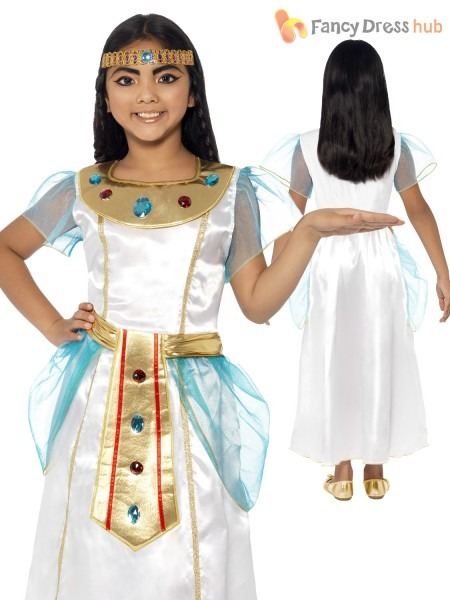 Smiffys Children's Deluxe Cleopatra Girl Costume Dress And