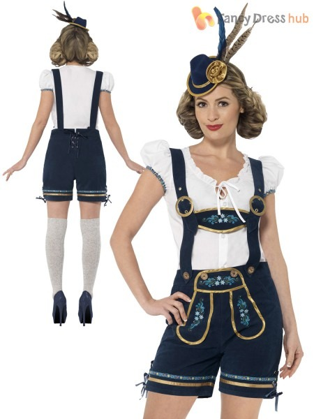 Ladies Deluxe Lederhosen Oktoberfest Costume Adult Traditional