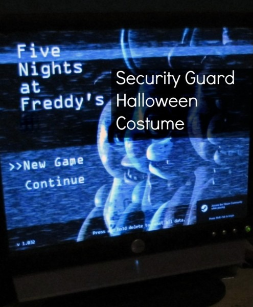 Diy Five Nights At Freddy's Security Guard Costume For Halloween