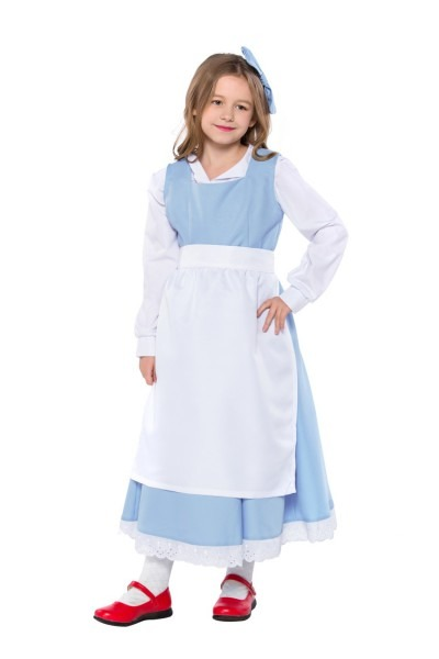 Free Shipping Elegant Beauty And The Beast Belle Costume Kid Light