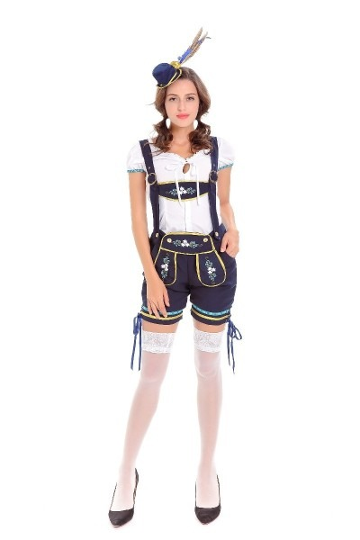 Free Shipping Hot Sexy Womens German Beer Girl Costume Adult Sexy