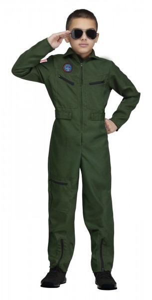 Top Gun Aviator Kids Costume Medium