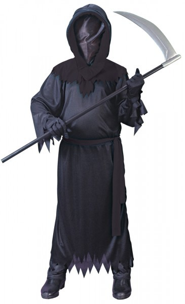 Unknown Phantom Childs Black Grim Reaper Halloween Costume