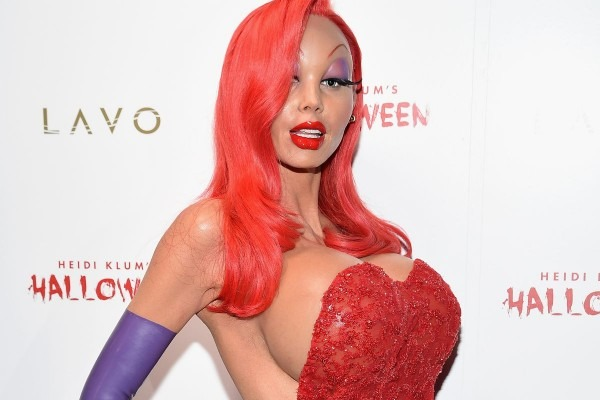 Heidi Klum Dressed As Jessica Rabbit Is Terrifying For All The