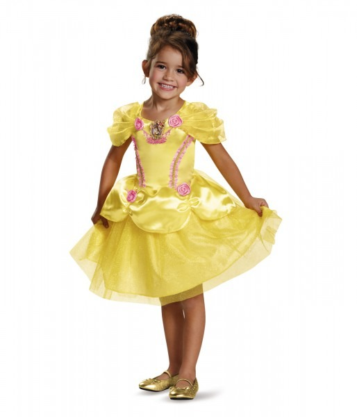 Disney Princess Belle Classic Girls Dress Costume