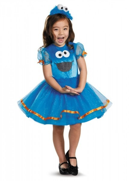 Sesame Street Cookie Monster Toddler Girls Tutu Costume