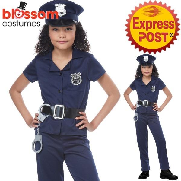 Ck1081 Cute Cop Costume Kids Police Uniform Book Week Fancy Dress