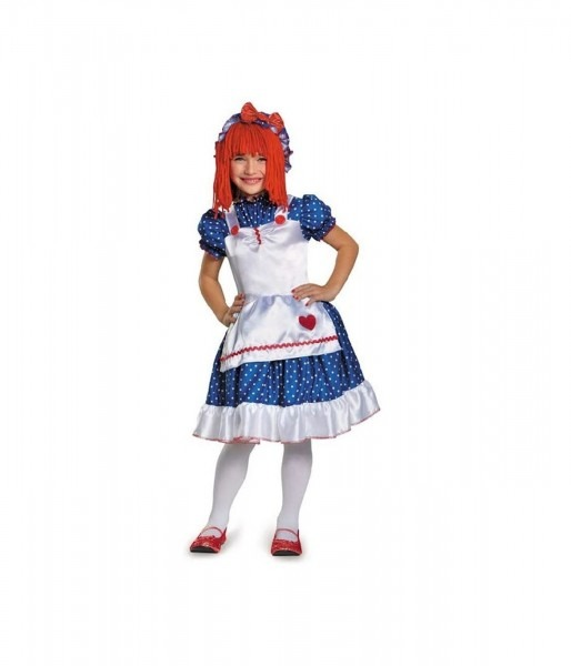 Raggedy Ann Playtime Doll Girls Costume