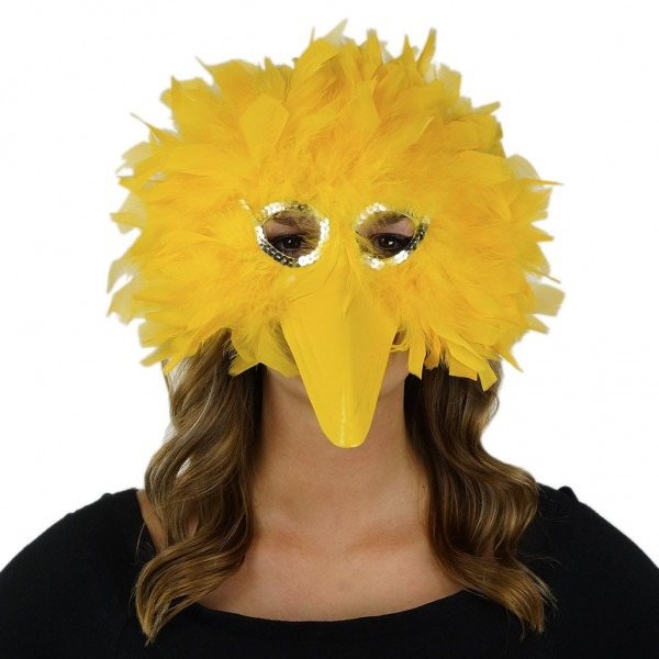 Feather Big Bird Mask In Gold